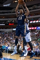 Oct 7, 2013; Dallas, TX, USA; New Orleans Pelicans power forward Anthony Davis (23) grabs a rebound during the game against the Dallas Mavericks at the American Airlines Center. The Pelicans defeated the Mavericks 94-92. Mandatory Credit: Jerome Miron-USA TODAY Sports