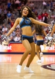 Oct 7, 2013; Dallas, TX, USA; A Dallas Mavericks dancer performs during the game between the Mavericks and the New Orleans Pelicans at the American Airlines Center. The Pelicans defeated the Mavericks 94-92. Mandatory Credit: Jerome Miron-USA TODAY Sports