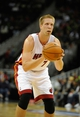 Oct 11, 2013; Kansas City, MO, USA; Miami Heat center Justin Hamilton (7) shoots a free throw against the Charlotte Bobcats in the second half at Sprint Center. Miami won 86-75. Mandatory Credit: John Rieger-USA TODAY Sports