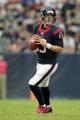 Oct 13, 2013; Houston, TX, USA; Houston Texans quarterback T.J. Yates (13) drops back to pass against the St. Louis Rams during the second half at Reliant Stadium. The Rams won 38-13. Mandatory Credit: Thomas Campbell-USA TODAY Sports