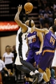 Oct 13, 2013; San Antonio, TX, USA; San Antonio Spurs forward Corey Maggette (14) gets fouled while shooting against Phoenix Suns  guard Gerald Green (14) during the second half at AT&T Center. The Suns won 106-99. Mandatory Credit: Soobum Im-USA TODAY Sports
