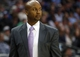 Oct 14, 2013; Denver, CO, USA;  Denver Nuggets head coach Brian Shaw watches from the bench during the first half against the San Antonio Spurs at Pepsi Center. Mandatory Credit: Chris Humphreys-USA TODAY Sports