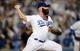 October 14, 2013; Los Angeles, CA, USA; Los Angeles Dodgers relief pitcher Brian Wilson (00) pitches the eighth inning against the St. Louis Cardinals in game three of the National League Championship Series baseball game at Dodger Stadium. Mandatory Credit: Jayne Kamin-Oncea-USA TODAY Sports