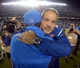 Oct 14, 2013; San Diego, CA, USA; Indianapolis Colts coach Chuck Pagano (right) embraces his brother and San Diego Chargers defensive coordinator John Pagano after the game at Qualcomm Stadium. The Chargers defeated the Colts 19-9. Mandatory Credit: Kirby Lee-USA TODAY Sports