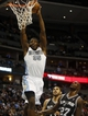 Oct 14, 2013; Denver, CO, USA; Denver Nuggets forward Kenneth Faried (35) dunks the ball during the second half against the San Antonio Spurs at Pepsi Center. The Nuggets won 98-94. Mandatory Credit: Chris Humphreys-USA TODAY Sports