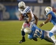 Oct 14, 2013; San Diego, CA, USA; Indianapolis Colts fullback Stanley Havili (39) is tackled by San Diego Chargers cornerback Derek Cox (22) and linebacker Larry English (51) at Qualcomm Stadium. The Chargers defeated the Colts 19-9. Mandatory Credit: Kirby Lee-USA TODAY Sports