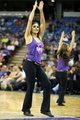 Oct 14, 2013; Sacramento, CA, USA; Sacramento Kings dancer performs during the fourth quarter against the Los Angeles Clippers at Sleep Train Arena. The Sacramento Kings defeated the Los Angeles Clippers 99-88. Mandatory Credit: Kelley L Cox-USA TODAY Sports