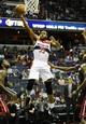 Oct 15, 2013; Washington, DC, USA; Washington Wizards power forward Trevor Booker (35) shoots a layup against the Miami Heat during the first half at the Verizon Center. Mandatory Credit: Brad Mills-USA TODAY Sports