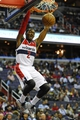 Oct 15, 2013; Washington, DC, USA; Washington Wizards point guard John Wall (2) dunks the ball against the Miami Heat during the first half at the Verizon Center. Mandatory Credit: Brad Mills-USA TODAY Sports
