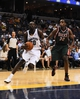 Oct 15, 2013; Memphis, TN, USA; Memphis Grizzlies small forward Quincy Pondexter (20) drives to the basket against the Milwaukee Bucks during the second quarter at FedExForum. Mandatory Credit: Justin Ford-USA TODAY Sports