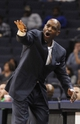 Oct 15, 2013; Memphis, TN, USA; Milwaukee Bucks head coach Larry Drew calls a play during the fourth quarter against the Memphis Grizzlies at FedExForum. Memphis Grizzlies defeat Milwaukee Bucks 102 - 99 Mandatory Credit: Justin Ford-USA TODAY Sports