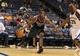 Oct 15, 2013; Memphis, TN, USA; Milwaukee Bucks small forward Khris Middleton (22) handles the ball against the Memphis Grizzlies at FedExForum. Memphis Grizzlies defeat Milwaukee Bucks 102 - 99 Mandatory Credit: Justin Ford-USA TODAY Sports