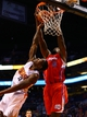 Oct 15, 2013; Phoenix, AZ, USA; Los Angeles Clippers center DeAndre Jordan (6) dunks the ball against Phoenix Suns guard Eric Bledsoe at US Airways Center. Mandatory Credit: Mark J. Rebilas-USA TODAY Sports