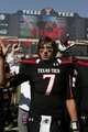 Oct 12, 2013; Lubbock, TX, USA; Texas Tech Red Raiders quarterback Davis Webb (7) after the game with the Iowa State Cyclones at Jones AT&T Stadium. Mandatory Credit: Michael C. Johnson-USA TODAY Sports