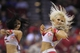 Oct 16, 2013; Houston, TX, USA; Houston Rockets cheerleaders entertain fans against the Orlando Magic during the second half at Toyota Center. The Rockets won 108-104. Mandatory Credit: Thomas Campbell-USA TODAY Sports