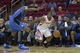 Oct 16, 2013; Houston, TX, USA; Houston Rockets point guard Isaiah Canaan (1) drives against Orlando Magic power forward Solomon Jones (22) during the second half at Toyota Center. The Rockets won 108-104. Mandatory Credit: Thomas Campbell-USA TODAY Sports