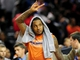 Oct 17, 2013; Baltimore, MD, USA; New York Knicks forward Carmelo Anthony (7) waves to the crowd after the game against the Washington Wizards at Baltimore Arena. Mandatory Credit: Evan Habeeb-USA TODAY Sports