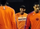 Oct 17, 2013; Baltimore, MD, USA; New York Knicks forward Carmelo Anthony (center) warms up prior to the game against the Washington Wizards at Baltimore Arena. Mandatory Credit: Evan Habeeb-USA TODAY Sports