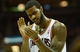 Oct 17, 2013; Cleveland, OH, USA; Cleveland Cavaliers small forward Earl Clark (6) applauds after drawing a foul during the game against the Detroit Pistons at Quicken Loans Arena. Mandatory Credit: Eric P. Mull-USA TODAY Sports
