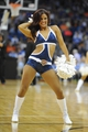 Oct 17, 2013; Tulsa, OK, USA; A member of the Oklahoma City Thunder dance team entertains the crowd in a break in action against the New Orleans Pelicans at BOK Center. Mandatory Credit: Mark D. Smith-USA TODAY Sports