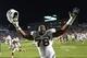 Oct 17, 2013; Chapel Hill, NC, USA; Miami Hurricanes defensive lineman Justin Renfrow (78) celebrates after the game defeating the North Carolina Tar Heels 27-23 at Kenan Memorial Stadium. Mandatory Credit: Bob Donnan-USA TODAY Sports
