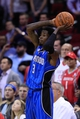 Oct 16, 2013; Houston, TX, USA; Orlando Magic point guard Manny Harris (3) passes against the Houston Rockets during the second half at Toyota Center. The Rockets won 108-104. Mandatory Credit: Thomas Campbell-USA TODAY Sports