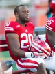 Oct 12, 2013; Madison, WI, USA; Wisconsin Badgers running back James White (20) during the game against the Northwestern Wildcats at Camp Randall Stadium.  Wisconsin won 35-6.  Mandatory Credit: Jeff Hanisch-USA TODAY Sports