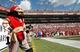 Sep 29, 2013; Tampa, FL, USA; Tampa Bay Buccaneers mascot, Captain Fear, stands and watches the game against the Arizona Cardinals during the second half at Raymond James Stadium. Arizona Cardinals defeated the Tampa Bay Buccaneers 13-10. Mandatory Credit: Kim Klement-USA TODAY Sports
