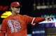 Oct 18, 2013; St. Louis, MO, USA; St. Louis Cardinals manager Mike Matheny gestures to the crowd after game six of the National League Championship Series baseball game against the Los Angeles Dodgers at Busch Stadium. Mandatory Credit: David J. Phillip/Pool Photo via USA TODAY Sports