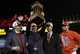 Oct 18, 2013; St. Louis, MO, USA; St. Louis Cardinals general manager John Mozeliak (second from left) hoists the National League championship trophy while standing next to chairman William DeWitt, Jr. (left) and manager Mike Matheny (right) after game six of the National League Championship Series baseball game against the Los Angeles Dodgers at Busch Stadium. Mandatory Credit: David J. Phillip/Pool Photo via USA TODAY Sports