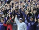 Oct 19, 2013; Evanston, IL, USA; Northwestern Wildcats fans cheer during the second half against the Minnesota Golden Gophers at Ryan Field.  The Minnesota Golden Gophers defeated the Northwestern Wildcats 20-17. Mandatory Credit: David Banks-USA TODAY Sports
