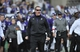 Oct 19, 2013; Evanston, IL, USA;  Northwestern Wildcats head coach Pat Fitzgerald reacts to a call in a game against the Minnesota Golden Gophers during the second half at Ryan Field.  The Minnesota Golden Gophers defeated the Northwestern Wildcats 20-17. Mandatory Credit: David Banks-USA TODAY Sports