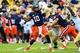 Oct 19, 2013; Atlanta, GA, USA; Syracuse Orange quarterback Terrel Hunt (10) throws a pass in the first half against the Georgia Tech Yellow Jackets at Bobby Dodd Stadium. Mandatory Credit: Daniel Shirey-USA TODAY Sports