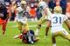 Oct 19, 2013; Atlanta, GA, USA; Georgia Tech Yellow Jackets quarterback Justin Thomas (5) pitches the ball in the second half against Syracuse at Bobby Dodd Stadium. Georgia Tech won 56-0. Mandatory Credit: Daniel Shirey-USA TODAY Sports