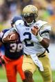 Oct 19, 2013; Atlanta, GA, USA; Georgia Tech Yellow Jackets quarterback Vad Lee (2) runs the ball in the first half against Syracuse at Bobby Dodd Stadium. Mandatory Credit: Daniel Shirey-USA TODAY Sports