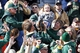 Oct 19, 2013; Laramie, WY, USA; Colorado State Rams fans cheer at a game against the Wyoming Cowboys at War Memorial Stadium. The Rams defeated the Cowboys 52-22.   Mandatory Credit: Troy Babbitt-USA TODAY Sports