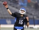 Oct 19, 2013; Buffalo, NY, USA; Buffalo Bulls quarterback Joe Licata (16) throws a pass during the second half against the Massachusetts Minutemen at University of Buffalo Stadium. Buffalo beats Massachusetts 32 to 3.  Mandatory Credit: Timothy T. Ludwig-USA TODAY Sports