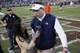 Oct 19, 2013; College Station, TX, USA; Auburn Tigers head coach Gus Malzahn is interviewed by CBS reporter Tray Wolfson after his team defeated the Texas A&M Aggies at Kyle Field. Tigers won 45-41. Mandatory Credit: Soobum Im-USA TODAY Sports