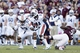 Oct 19, 2013; College Station, TX, USA; Auburn Tigers tight end Brandon Fulse (11) runs the ball on a punt return against the Texas A&M Aggies during the second half at Kyle Field. Mandatory Credit: Soobum Im-USA TODAY Sports