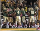 Oct 19, 2013; Waco, TX, USA; The Baylor Bears celebrate the punt return for a touchdown by wide receiver Levi Norwood (42) during the second half against the Iowa State Cyclones at Floyd Casey Stadium. The Bears defeated the Cyclones 71-7. Mandatory Credit: Jerome Miron-USA TODAY Sports