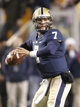 Oct 19, 2013; Pittsburgh, PA, USA; Pittsburgh Panthers quarterback Tom Savage (7) looks to pass against the Old Dominion Monarchs during the fourth quarter at Heinz Field.  Pittsburgh won 35-24. Mandatory Credit: Charles LeClaire-USA TODAY Sports