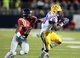 Oct 19, 2013; Oxford, MS, USA; LSU Tigers wide receiver Jarvis Landry (80) receives a pass and is met by Mississippi Rebels defensive back Tony Conner (12) during the game at Vaught-Hemingway Stadium. Mississippi Rebels defeat the LSU Tigers 27-24.  Mandatory Credit: Spruce Derden-USA TODAY Sports