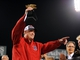 Oct 19, 2013; Boston, MA, USA; Boston Red Sox manager John Farrell holds the American League championship trophy after defeating the Detroit Tigers in game six of the American League Championship Series playoff baseball game at Fenway Park. Mandatory Credit: Robert Deutsch-USA TODAY Sports