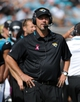 Oct 20, 2013; Jacksonville, FL, USA; Jacksonville Jaguars head coach Gus Bradley during the second half of the game against the San Diego Chargers at EverBank Field. Mandatory Credit: Melina Vastola-USA TODAY Sports