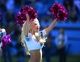 Oct 20, 2013; Charlotte, NC, USA; Carolina Panthers cheerleader performs in the fourth quarter at Bank of America Stadium. Mandatory Credit: Bob Donnan-USA TODAY Sports
