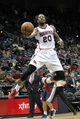 Oct 10, 2013; Atlanta, GA, USA; Atlanta Hawks power forward Cartier Martin (20) shoots the ball against the Memphis Grizzlies in the fourth quarter at Philips Arena. The Grizzlies defeated the Hawks 90-82. Mandatory Credit: Brett Davis-USA TODAY Sports