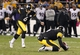 Oct 20, 2013; Pittsburgh, PA, USA; Pittsburgh Steelers kicker Shaun Suisham (6) kicks the game winning field goal as time expires against the Baltimore Ravens during the fourth quarter at Heinz Field. The Steelers won 19-16. Mandatory Credit: Charles LeClaire-USA TODAY Sports