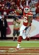 Oct 20, 2013; Kansas City, MO, USA; Kansas City Chiefs inside linebacker Derrick Johnson (56) celebrates after recovering a fumble against the Houston Texans in the second half at Arrowhead Stadium. The Chiefs won 17-16. Mandatory Credit: John Rieger-USA TODAY Sports