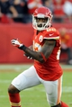 Oct 20, 2013; Kansas City, MO, USA; Kansas City Chiefs wide receiver Dwayne Bowe (82) catches a pass and runs for yardage during the second half of the game against the Houston Texans at Arrowhead Stadium. The Chiefs won 17-16. Mandatory Credit: Denny Medley-USA TODAY Sports