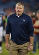 Oct 20, 2013; Nashville, TN, USA; Tennessee Titans head coach Mike Munchak leaves the field after a game against the San Francisco 49ers during the second half at LP Field. The 49ers beat the Titans 31-17. Mandatory Credit: Don McPeak-USA TODAY Sports
